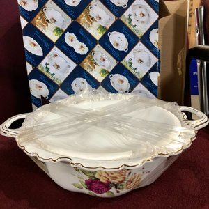 Fine Porcellaine Fin  --Serving Bowl